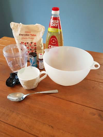 Ingredients for home made play doh